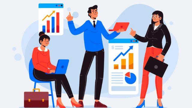 データ解析を進める営業チーム