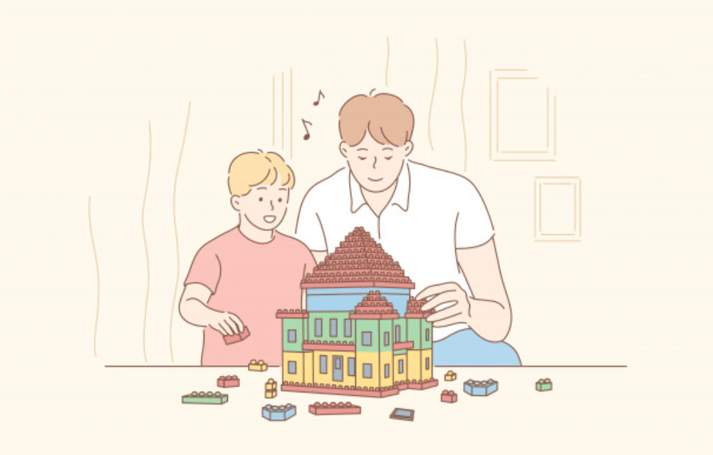 子供と休暇を過ごす男性ビジネスマン