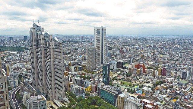 西新宿の高層ビルからの眺め