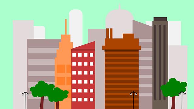 大都市のオフィスビル