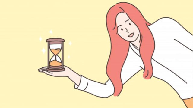 時間を大切にする女性ビジネスマン