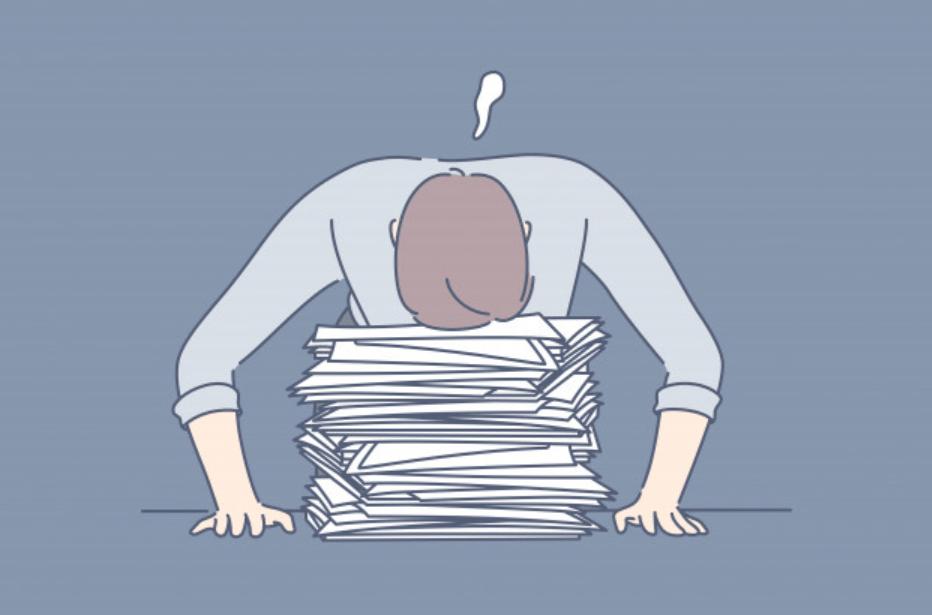 残業に悩む男性ビジネスマン