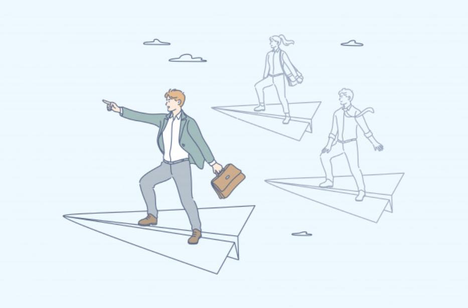 キャリアアップを狙う20代のビジネスマン
